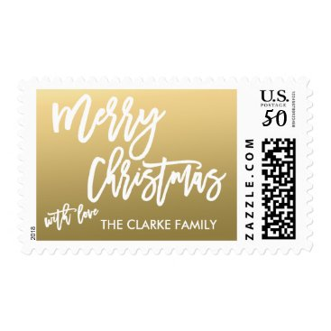 monogramgallery Gold Merry Christmas | Holiday Postage