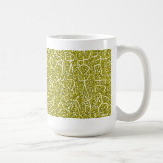 gold message classic white coffee mug