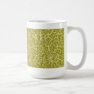 gold message coffee mug