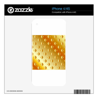 gold metal background iPhone 4S skin