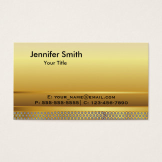 Gold Metal Elegant Template Business Card