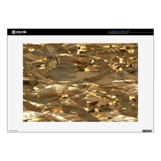 """Gold Metal Foil Special Effects Electronics Skins Decals For 15"""" Laptops"""