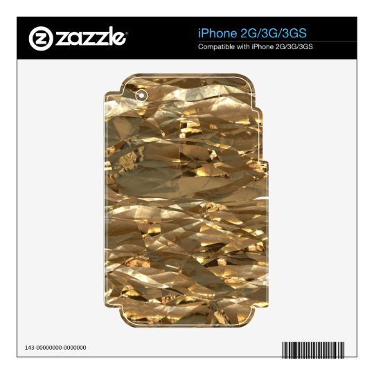 Gold Metal Foil Special Effects Electronics Skins Decals For iPhone 2G