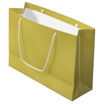Gold Metal Large Gift Bag