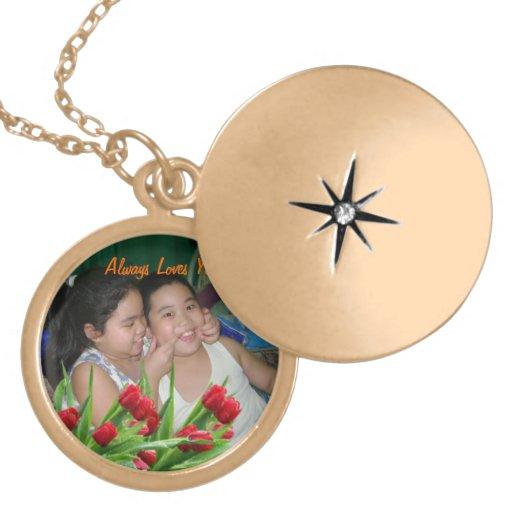 Gold metal locket