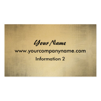 Gold Metal Look Grunge Business Cards