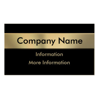 Gold Metal Look Nameplate Business Cards