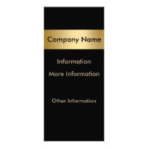Gold Metal Look Nameplate Rack Cards