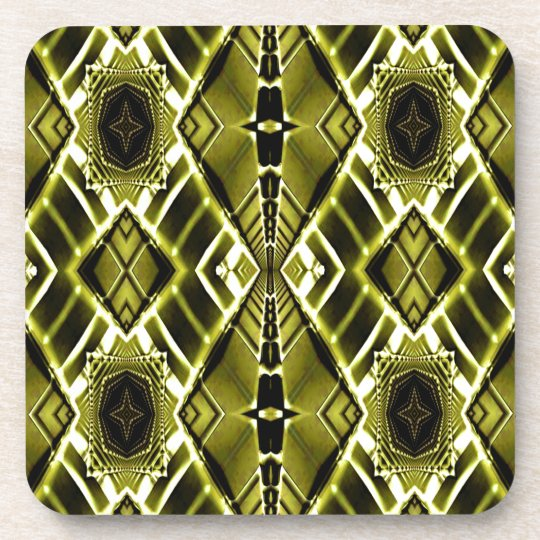 Gold Metal Maze Beverage Coaster