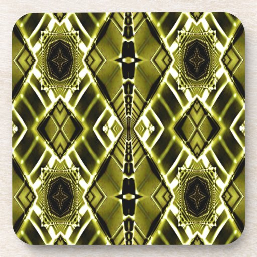 Gold Metal Maze Drink Coaster
