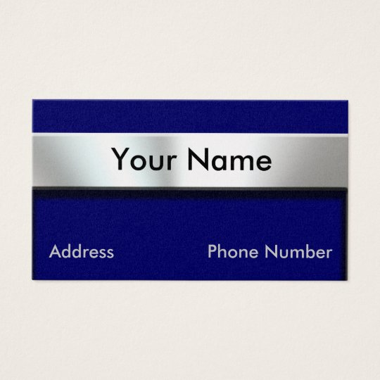 Gold Metal Nameplate Business Cards