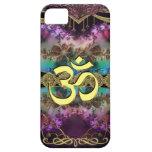 Gold Metal OM-Symbol on Fractal Tapestry iPhone 5 Case