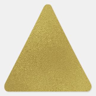 Gold Metal Pattern Triangle Sticker