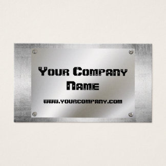 Gold Metal Plate With Screws Business Cards