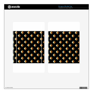 Gold metal studs skins for kindle fire