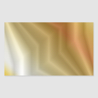 Gold metal texture rectangular sticker