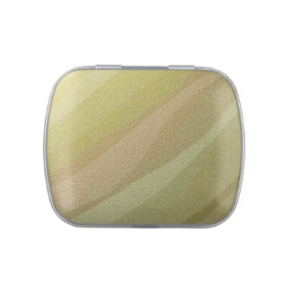 Gold Metal Waves Jelly Belly Candy Tins