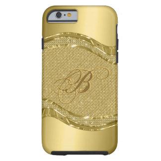 Gold Metallic And Diamonds Print Pattern Tough iPhone 6 Case