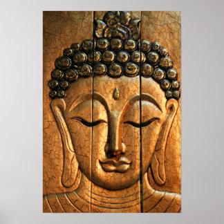 Gold Metallic Buddha Poster