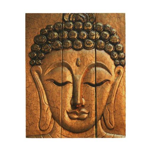 Gold Metallic Buddha Wood Wall Art   Zazzle