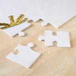 Gold Metallic Crowned Pheasant in Jewel Tones Jigsaw Puzzle