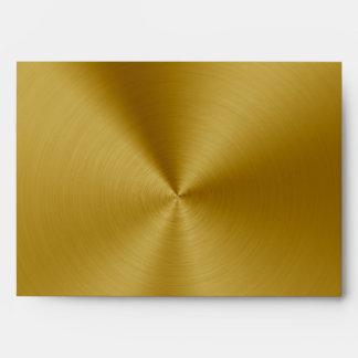 Gold metallic Envelope