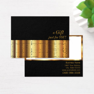 Gold Metallic Gift Certificate