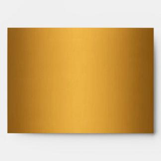 Gold Metallic Leopard Fur Lined Envelope