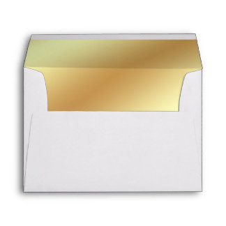 Gold Metallic Lined Envelope