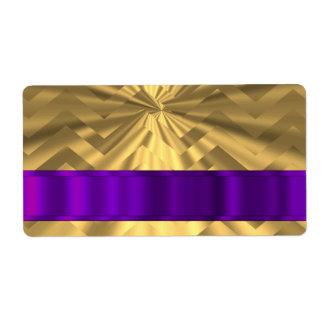 Gold metallic look chevron label