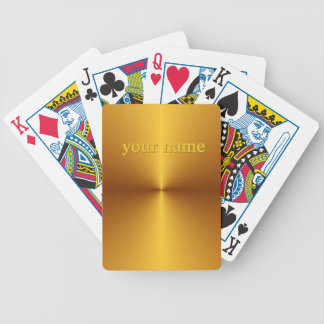 Gold Metallic Look Deck of Cards Personalized Name