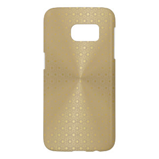 Gold Metallic Look Excellent Geometric Pattern Samsung Galaxy S7 Case