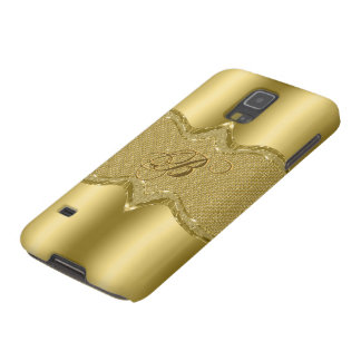 Gold Metallic Look With Diamonds Pattern 3 Galaxy S5 Case