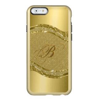 Gold Metallic Look With Diamonds Pattern Incipio Feather Shine iPhone 6 Case