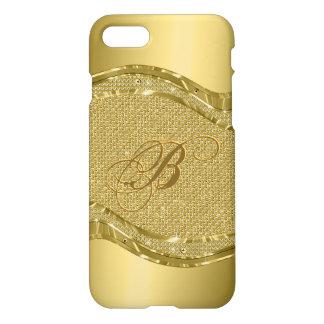 Gold Metallic Look With Diamonds Pattern iPhone 8/7 Case