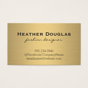 Gold Metallic Lux Business Card