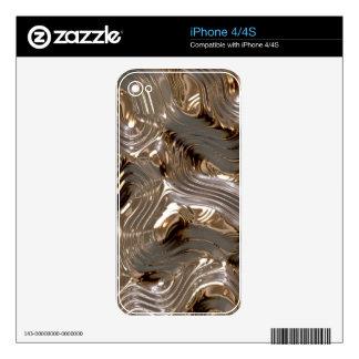 Gold Metallic Metal-effect Electronic Skin iPhone 4 Decals
