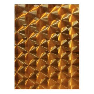 Gold Metallic Pattern Postcard