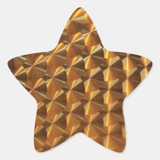 Gold Metallic Pattern Star Sticker