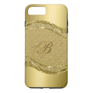 Gold Metallic Print With Diamonds Pattern iPhone 8 Plus/7 Plus Case