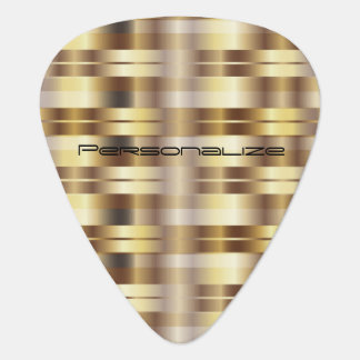 Gold Metallic Stripes | Personalize Guitar Pick