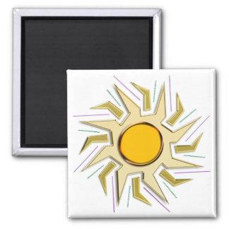 Gold Metallic Super Sun Sign Magnet