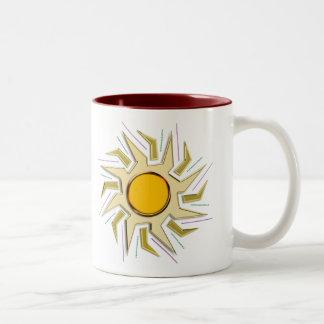 Gold Metallic Super Sun Sign Two-Tone Coffee Mug