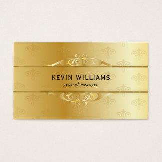 Gold Metallic Texture Print Business Card
