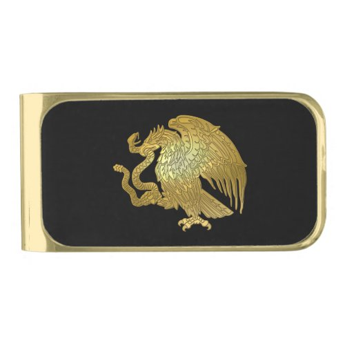 Gold Mexican Eagle Gold Finish Money Clip