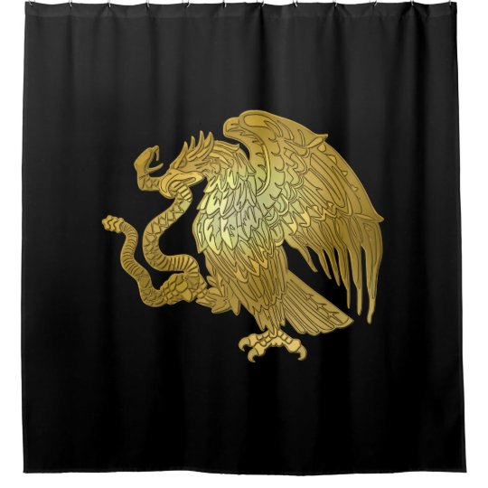Gold Mexican Eagle Shower Curtain