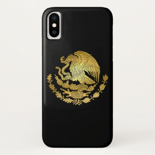 Gold Mexico Coat of Arms Phone Case