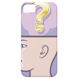 Gold Mindful Question vector art iPhone SE/5/5s Case