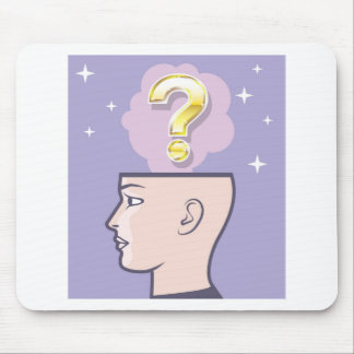 Gold Mindful Question vector art Mouse Pad
