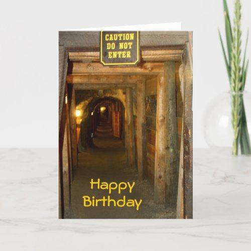 Gold Mine Birthday Card